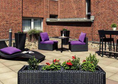 Mercure Hotel Duisburg City Marina Lounge Innenhof Patio